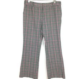 Plaid preppy chic dress pants trousers